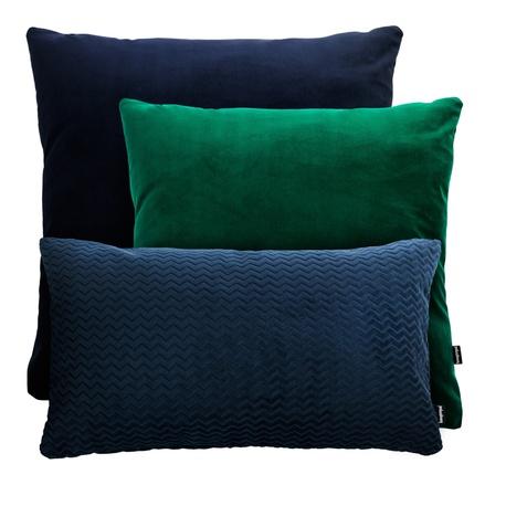 ZESTAWY - Granatowo zielony zestaw poduszek dekoracyjnych (1)