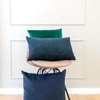 ZESTAWY - Granatowo zielony zestaw poduszek dekoracyjnych (2)