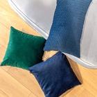 ZESTAWY - Granatowo zielony zestaw poduszek dekoracyjnych (3)